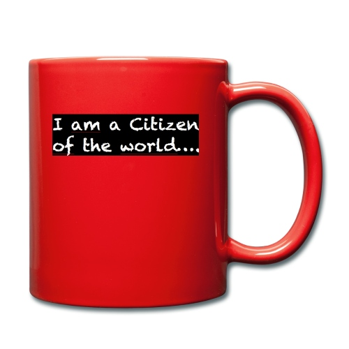 I am a citizen of the world - Enfärgad mugg