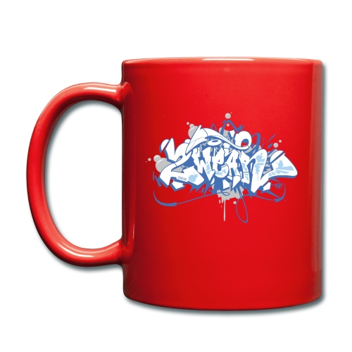 Dae 2Wear graffiti style ver01 blue edt - Ensfarvet krus