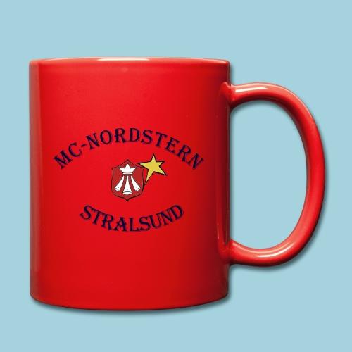 MC Nordstern Schrift gebogen - Tasse einfarbig