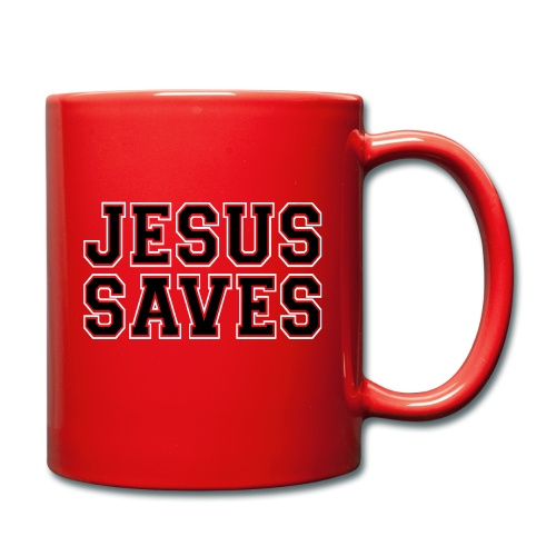 JESUS SAVES - Full Colour Mug