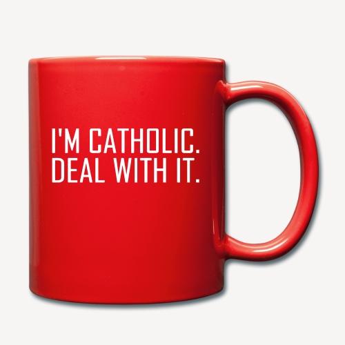 I'M CATHOLIC, DEAL WITH IT - Full Colour Mug
