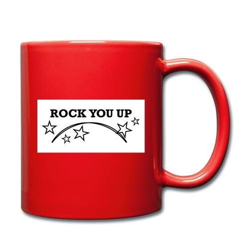 Rock You Up vit - Enfärgad mugg