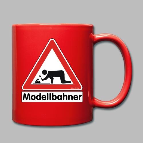 Warnschild Modellbahner Dampflok - Tasse einfarbig