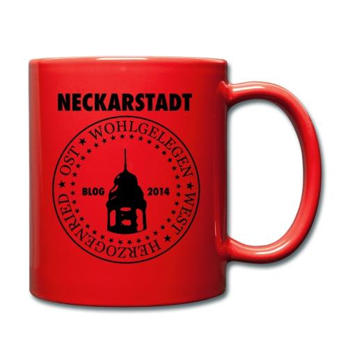 Neckarstadt Blog seit 2014 (Logo dunkel) - Tasse einfarbig
