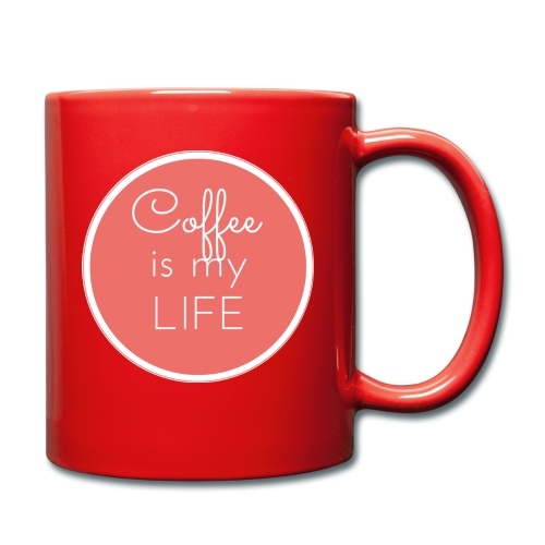 Coffee is my life - Taza de un color