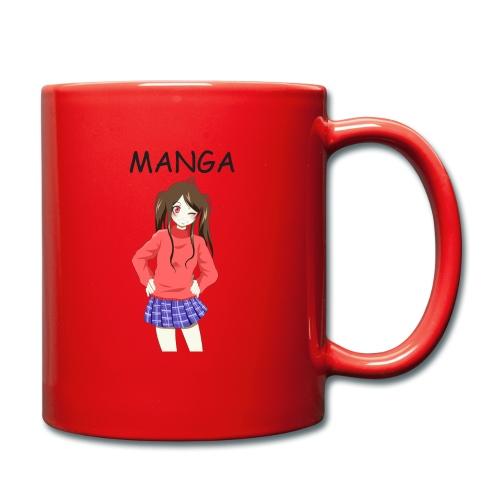 Anime girl 02 Text Manga - Tasse einfarbig