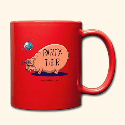 Partytier Schwein Fete Feier Party Sau - Tasse einfarbig