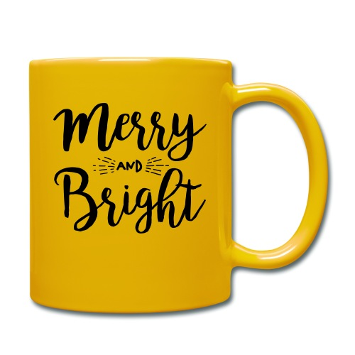 Merry and Bright - Tasse einfarbig