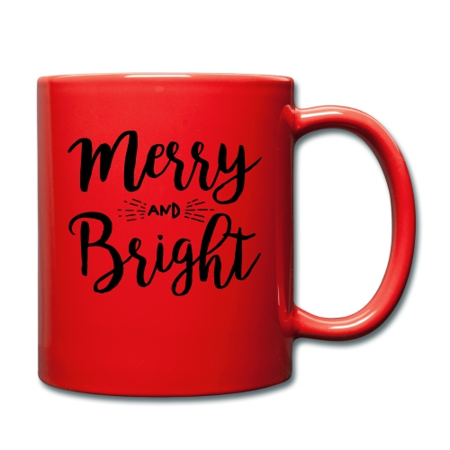 Merry and Bright - Tasse einfarbig