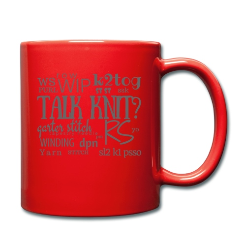 Talk Knit ?, gray - Full Colour Mug