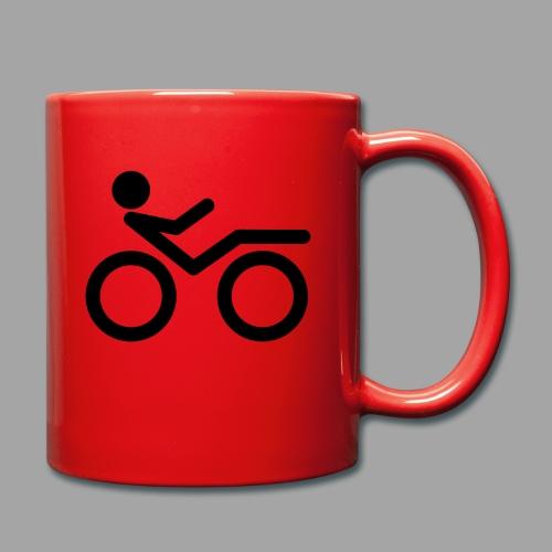 Recumbent bike black 2 - Yksivärinen muki