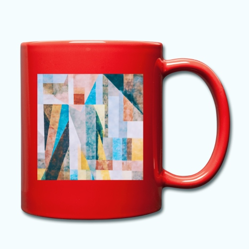 Abstract geometry watercolor - Full Colour Mug