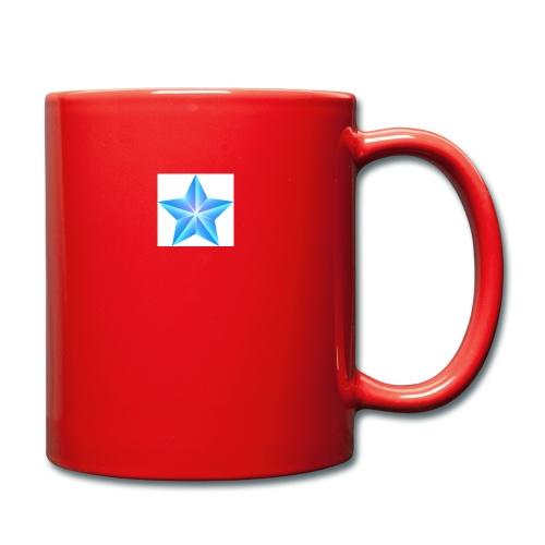 blue themed christmas star 0515 1012 0322 4634 SMU - Full Colour Mug