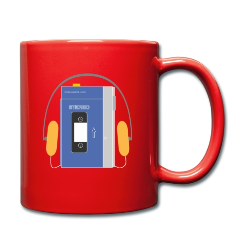 Stereo walkman in blue - Full Colour Mug