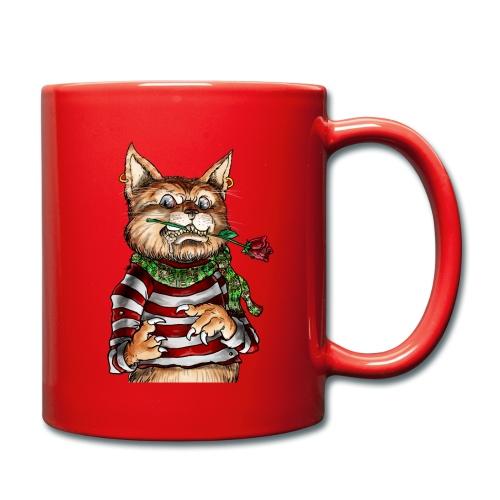T-shirt - Crazy Cat - Mug uni
