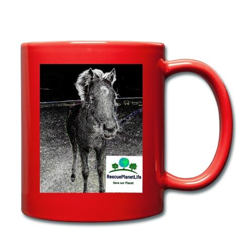 RescuePlanetLife Pferd-Design - Tasse einfarbig