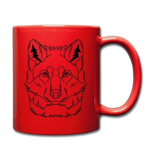 Black Wolf - Tasse einfarbig