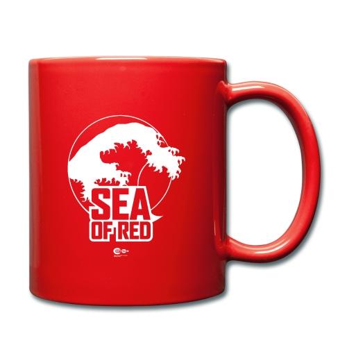 Sea of red logo - white - Full Colour Mug