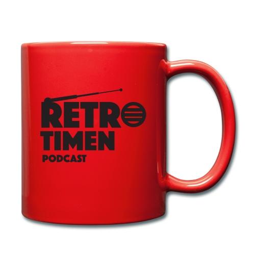 retrotimen logo sort png - Ensfarget kopp