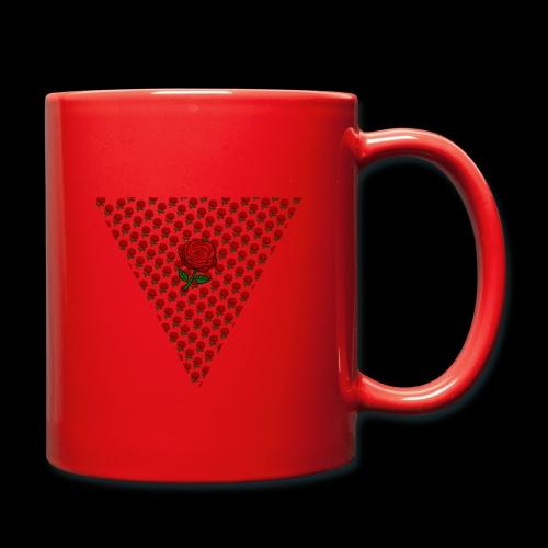 Dreieck Rose - Tasse einfarbig