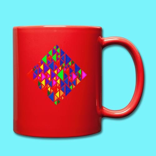 A square school of triangular coloured fish - Full Colour Mug