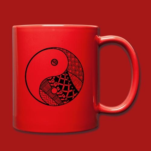 Decorative-Yin-Yang - Ensfarvet krus