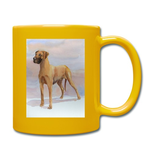 Great Dane Yellow - Ensfarvet krus