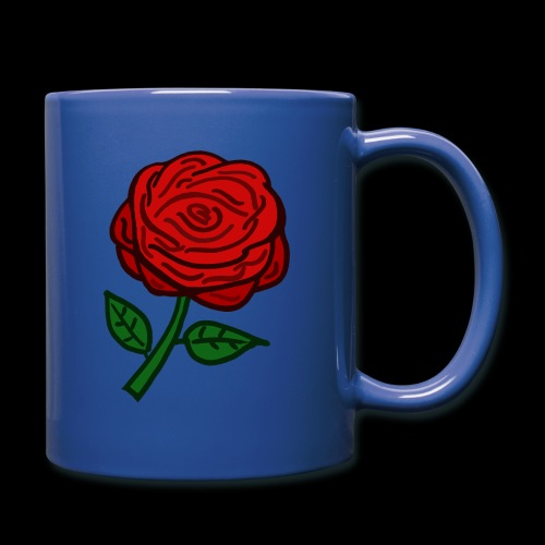 Rote Rose - Tasse einfarbig