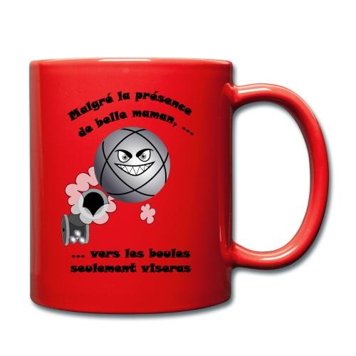 t shirt pétanque belle mere tireur boule humour FC - Mug uni