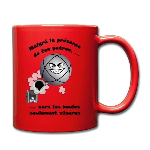 t shirt pétanque patron tireur boule humour FC - Mug uni