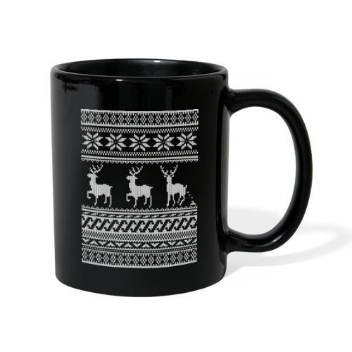 Ugly Christmas Sweater Rentier Muster (lustig) - Tasse einfarbig