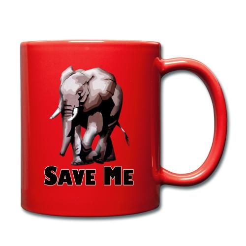 Elefant - SAVE ME - Tasse einfarbig