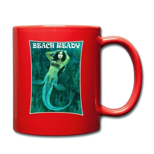 Vintage Pin-up Beach Ready Mermaid - Full Colour Mug