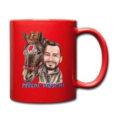 Pferde-Hoschi Kollektion hinten - Tasse einfarbig