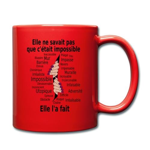 Impossible et fait Femme mains Fond Clair - Mug uni