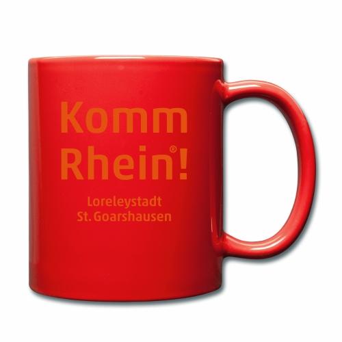Komm Rhein! Loreleystadt St. Goarshausen - Tasse einfarbig