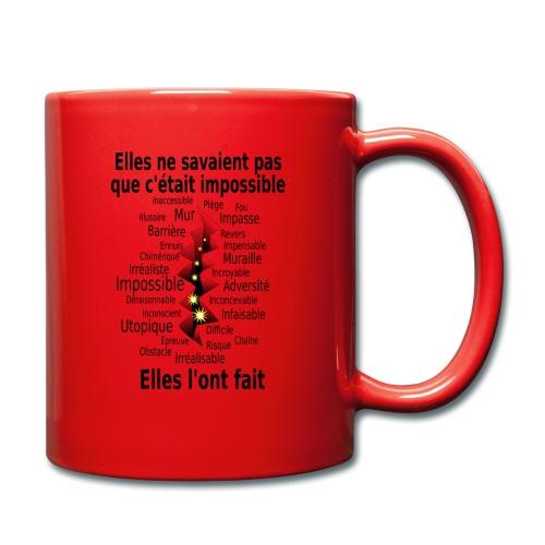 Impossible et fait Femmes brèche Fond Clair - Mug uni