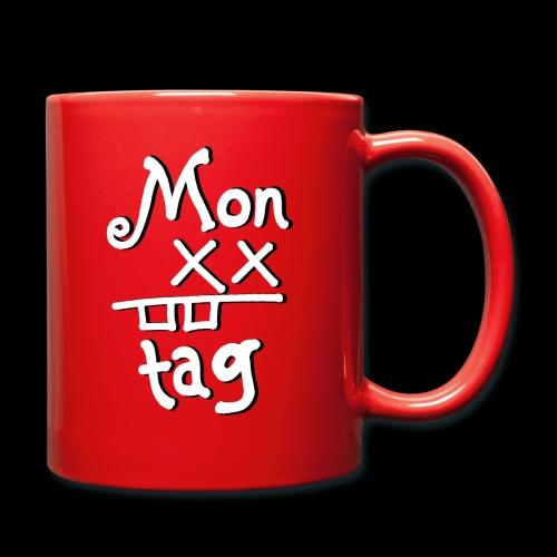 Montag x_x - Tasse einfarbig