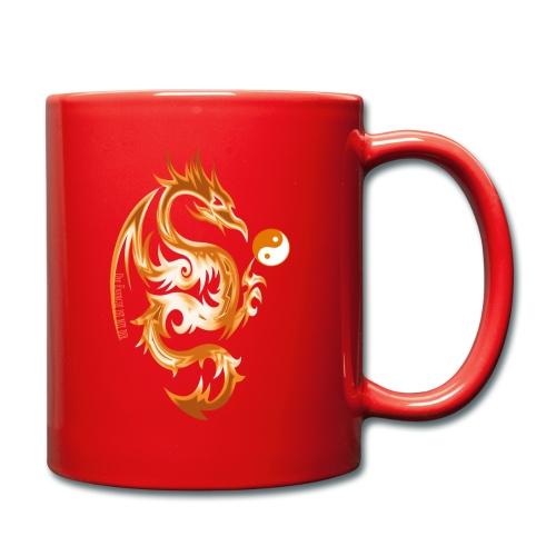 Der Drache spielt mit der Energie des Lebens. - Tasse einfarbig