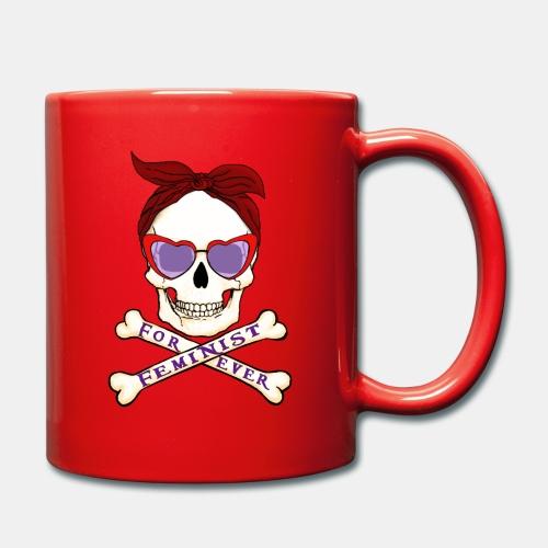 Feminist skull - Taza de un color