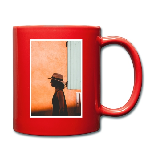WOMAN WITH HAT WALKING - Full Colour Mug