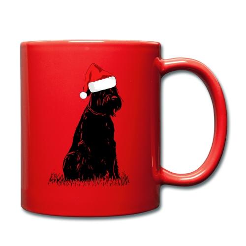 Riesenschnauzer Weihnachten Schnauzer Hund - Tasse einfarbig