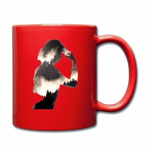 Lady Double Exposure - Full Colour Mug