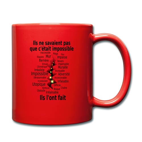 Impossible et fait Hommes brèche Fond Clair - Mug uni
