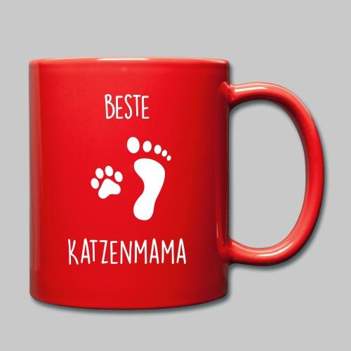 Beste Katzenmama - Tasse einfarbig