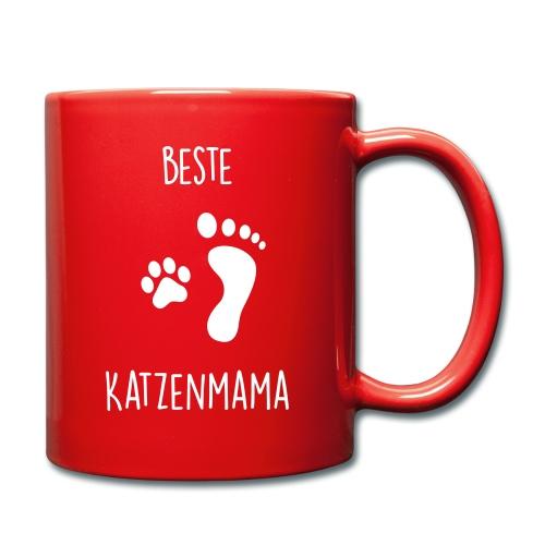 Vorschau: Beste Katzenmama - Tasse einfarbig