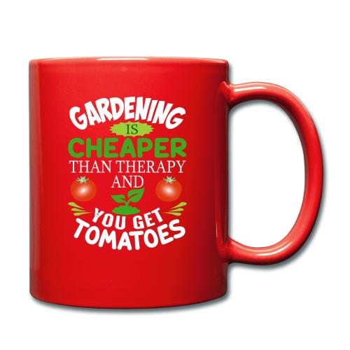 Garten Gartenarbeit Therapie Tomaten Hobbygärtner - Tasse einfarbig