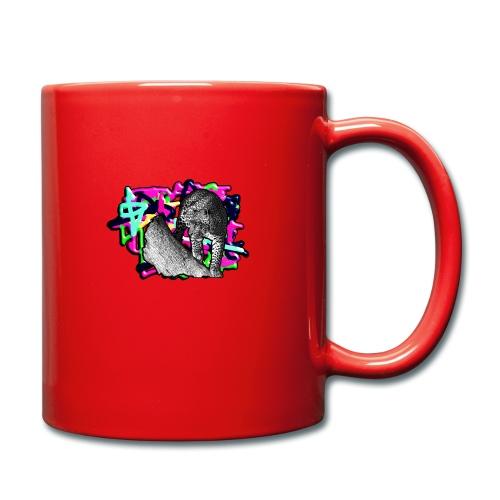 Leopard auf Bunt - Tasse einfarbig