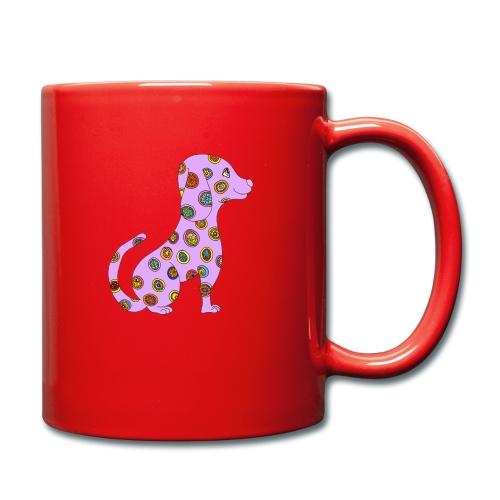 Le chien fleuri - Mug uni