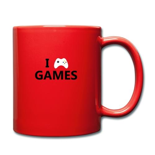 I Love Games - Taza de un color